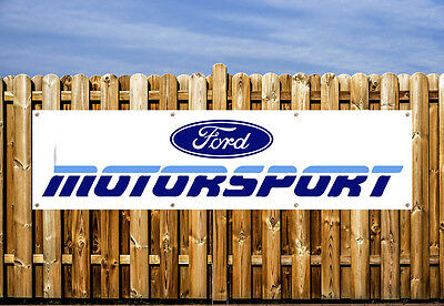 Ford Motor Sport Logo Pvc Banner - Workshop, Garages & Bedroom
