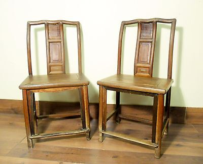 Antique Chinese Ming Chairs (5790) (Pair), Zelkova Wood, Circa 1800-1949