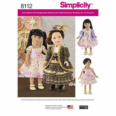 18-inch Doll Fantasy Costumes Sewing Pattern  # 8112