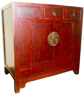Antique Chinese Red Altar Table (2511), Circa 1800-1849