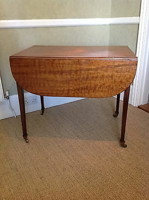 Antique Victorian (C 1850) Mahogany Pembroke Table Single Drawer