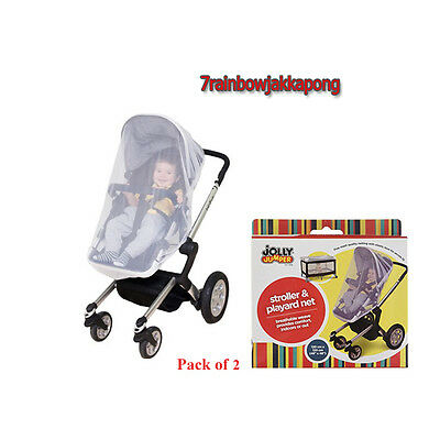 Baby Stroller Jogger Bug Net 2-Pcs Car Seat System Insect Protect Infant Travel