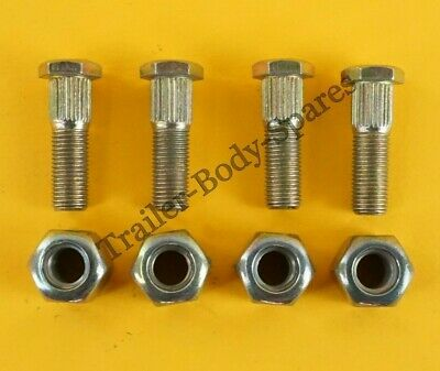 "FREE UK Post - 4 x Wheel Studs & Nuts 3/8"" UNF - Trailer Hubs"