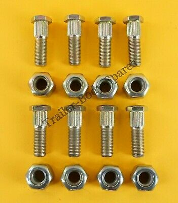 "FREE UK Class Post - 8 x Wheel Studs & Nuts 3/8"" UNF - Trailer Hubs"