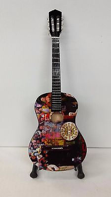 Beatles Sergeant Peppers Acoustic Miniature Guitar