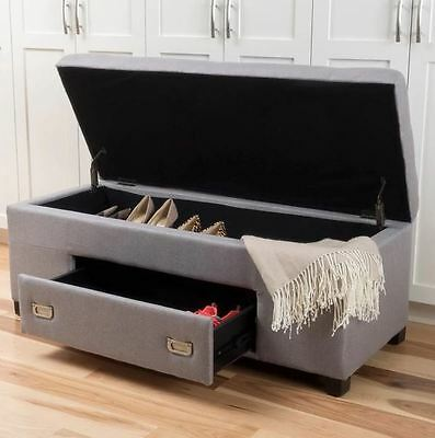 Storage Bench Cushion Shoe Rack For Entryway End Of Bed King
