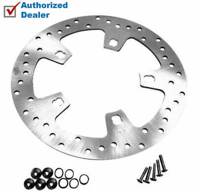 Polished Stainless Custom Enforcer Front Brake Rotor 2014-2017 Harley Touring