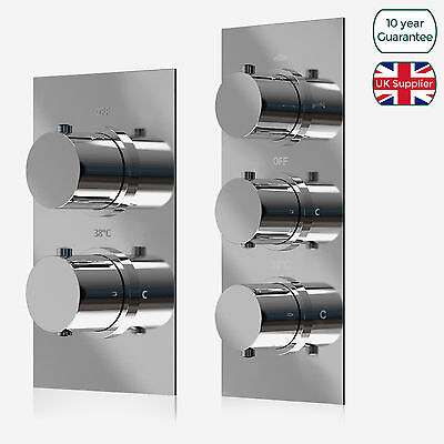 Concealed Thermostatic Bar Shower Mixer Chrome Solid Brass Valve - Clearance