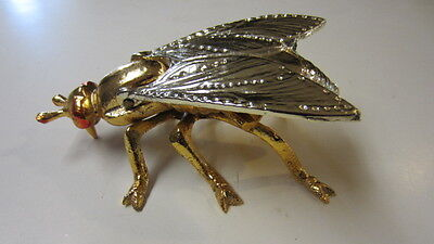 Cast Metal Horse Fly / Fly Hinged Ashtray / Match Holder