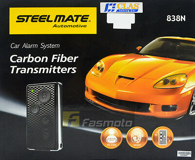 Steelmate 838N-4176 Car Alarm System with Carbon Fiber Transmitter Valet Mode