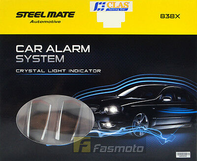 Steelmate 838X Car Alarm System Crystal Light Indicator Water Resistant Remote