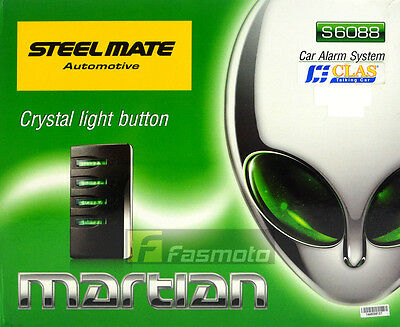 Steelmate S6088 Car Alarm System Crystal Light Indicator Remote Trunk Release