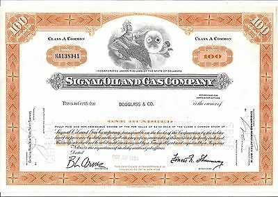 Signal Oil And Gas Company.....1965 Stock Certificate