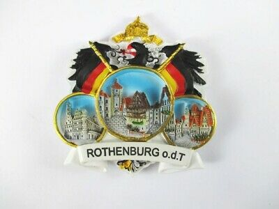 Magnet Rothenburg Tauber Polyresin, Souvenir Deutschland Germany *