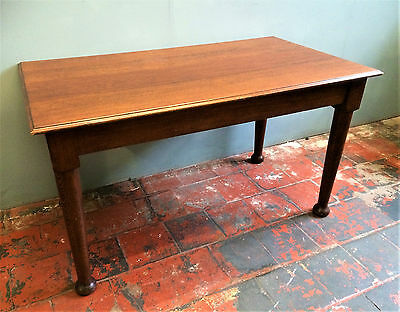Antique Solid Oak Dining Table, Seats 6, Removed From A Church, Arts & Crafts.