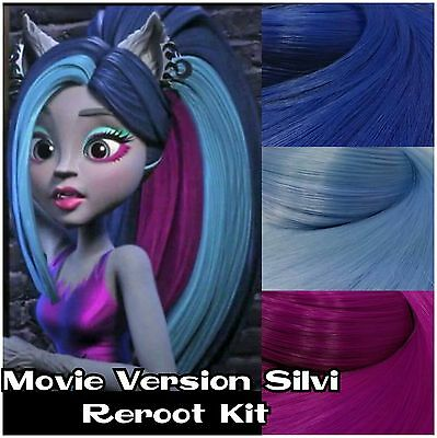 Monster High Silvi Movie Version Custom OOAK Doll Re-root Pack Nylon Hair Kit