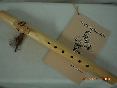 Flute, Native American, Navajo made, American Bison  Effigy, White, Signed
