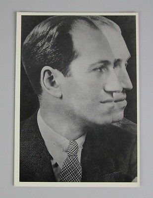 George Gershwin Vintage Postcard / Super Exposure of Father and Son
