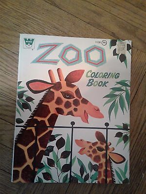 """Vintage Whitman's """"Zoo"""" Coloring Book/activity Book"""