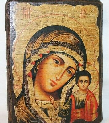 Handmade ORTHODOX ICON MOTHER OF GOD OF KAZAN / Kazanskaja