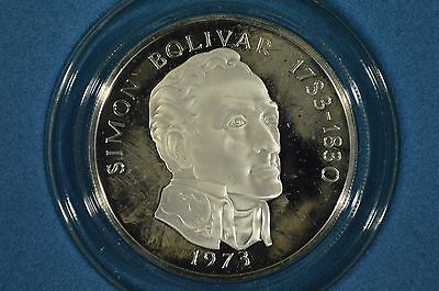 1973 Republic of Panama Sterling Silver Proof 20 Balboas