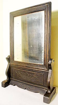 Antique Chinese Carved Mirror Stand, Circa 1849-1899