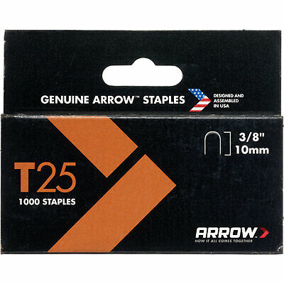Arrow T25 Wiring Staples 10mm Pack of 1000