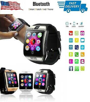 Smart Watch Phone Mate with Text Call Camera for iPhone Samsung LG ZTE SILVER