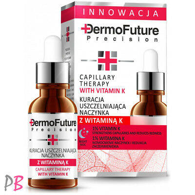 Dermofuture Capillary Face Therapy with Vitamin K Night Face Serum Reduces Redne