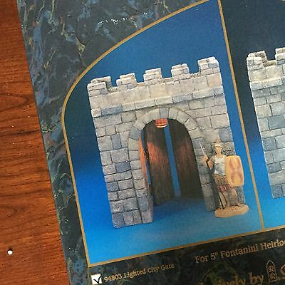 Retired Fontanini City Walls Lighted City Gate #94803 Brand New Free Shipping