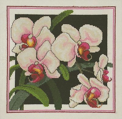Pink Phallys-Phalaenopsis Orchids Cross Stitch Chart - Country Threads