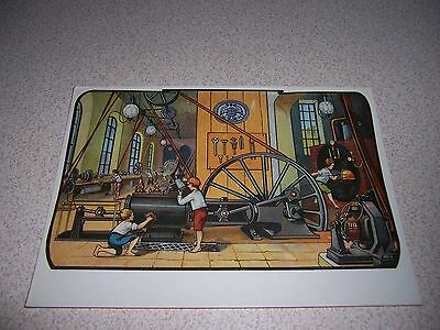 1910 FACTORY STEAM ENGINE by ERNST PLANCK NURNBERG GERMANY VTG POSTCARD