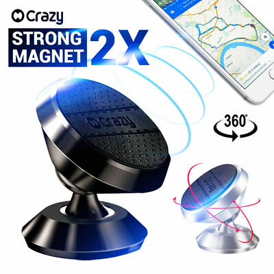 2 X Universal Car phone Holder Mount Cradle Magnetic for iPhone Galaxy GPS