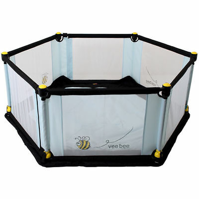 Vee Bee 6 Sided Play Yard Playpen Area Activity/Toy for Baby/Toddler Turquoise