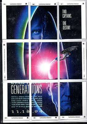 Star Trek Generations Two Captains One Generation Cards 9 Cards Forming Picture