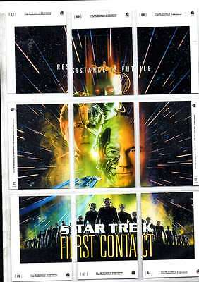 Star Trek First Contact Resistance Futile Cards 9 Cards Forming Picture