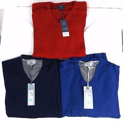 Job Lot Men's M&S & BHS V-Neck Jumpers x 3 Size XL & XXL New with tags