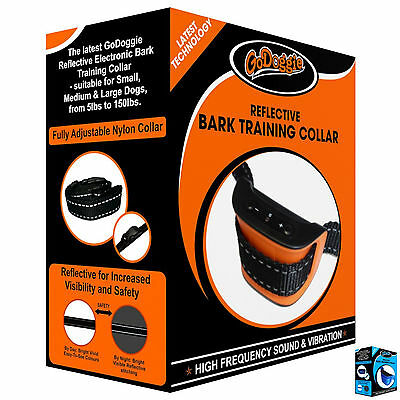 New Anti Bark and Bark Training Dog Collar High Frequency Sound & Vibration Only
