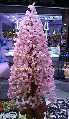 AAA+ Lucky Tree!!! Natural Pretty Rose Quartz Crystal Gem Tree