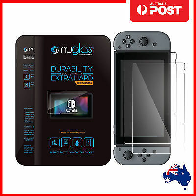 Nuglas Nintendo Switch Tempered Glass Screen Protector for Nintendo Switch AU