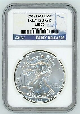 2015 American Eagle Silver Dollar NGC MS 70 Early Releases - 1 oz AK467