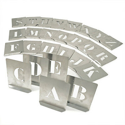 Kennedy 70Mm (Set Of 26) Steel Stencil Letters