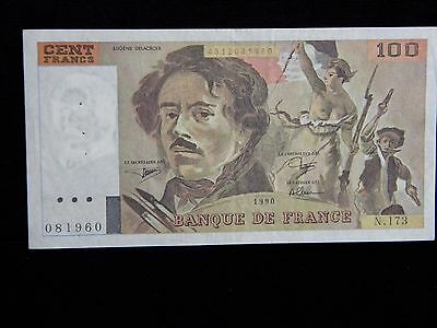 1980***FRANCE***100 FRANCS***P-154e***EXTREMELY FINE CONDITION***AOFC