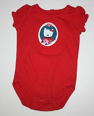 New Gymboree Westie Dog Red Bodysuit Top Size 3-6 Months NWT Precious Prep Line