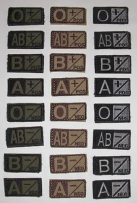 Blood Type 1x2 Military/Morale Patch Hook Backing