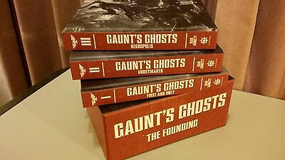 GAUNT'S GHOSTS THE FOUNDING TRILOGY BOX SET Commissar Gaunt warhammer New Mint