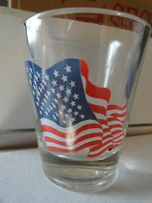 American Flag SHOT GLASS - NEVER USED