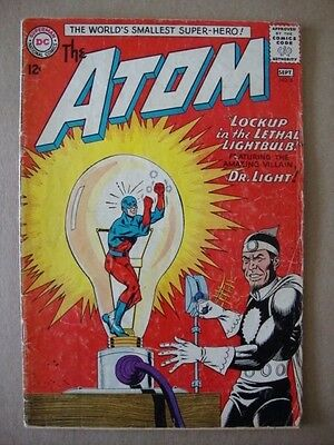 Atom #8 (DC Comics) Silver Age ~ Justice League JLA and Dr. Light Appearances