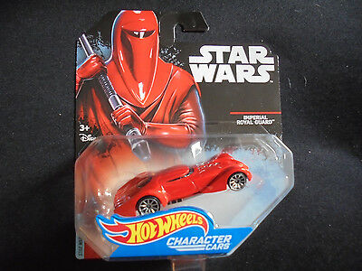 Hot Wheels Star Wars Die Cast Character Cars Imperial Royal Guard DJL63 2014