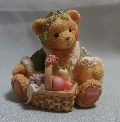 "Cherished Teddies ""garland"" 614807 (Part Of A Set Of 3) New ,certificate No Box"